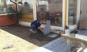 Озеленяване на двор, кв. Модерно предградие [3]