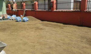 Озеленяване на двор, кв. Модерно предградие [4]
