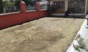 Озеленяване на двор, кв. Модерно предградие [5]