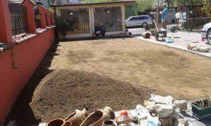Озеленяване на двор, кв. Модерно предградие [9]