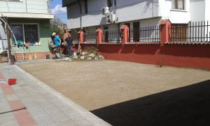 Озеленяване на двор, кв. Модерно предградие [22]