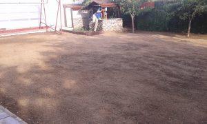 Озеленяване на двор, кв. Левски [4]