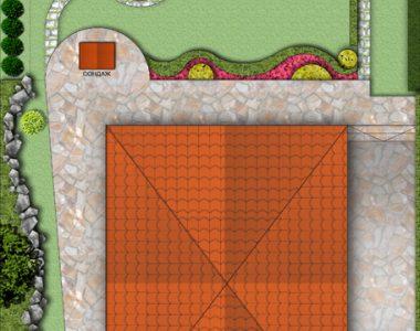 Зелени площи пред къща, кв. Горубляне [6]
